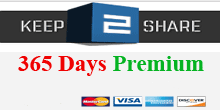 Keep2share cc 365 Days Premium Account PayPal